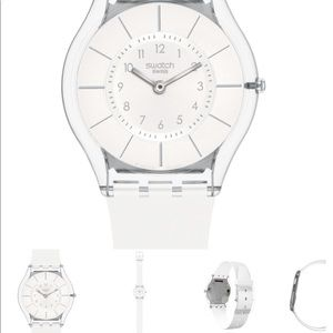 Swatch NWOT White Classiness Watch